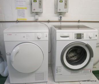Waschmaschine und Trockner gegen Gebühr